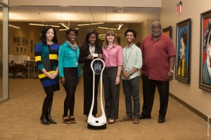 Pictured from left to right Ann'Drea Burns, Esther Olayinka, Christina Stanley, Emy Decker, Keith Freeman, Oscar Daniel