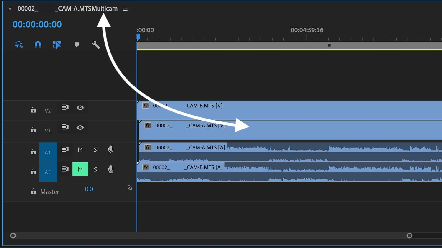 How to Open Multi-Camera Sequence in Timeline in Premiere Pro ...